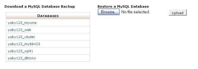 databasebackup